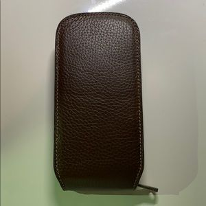 Fossil leather watch case